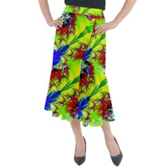 Abstract Art Art Design Modern Art Midi Mermaid Skirt by Pakrebo