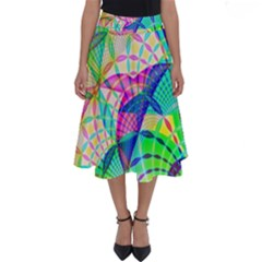 Design Background Concept Fractal Perfect Length Midi Skirt