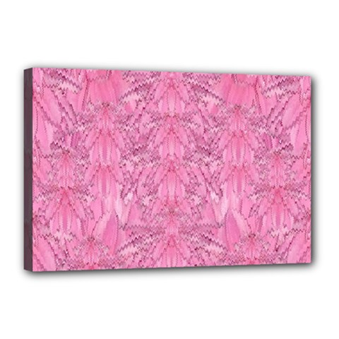 Flowers Decorative Ornate Color Canvas 18  X 12  (stretched) by pepitasart