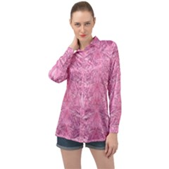 Flowers Decorative Ornate Color Long Sleeve Satin Shirt