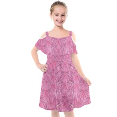 Flowers Decorative Ornate Color Kids  Cut Out Shoulders Chiffon Dress by pepitasart