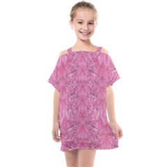 Flowers Decorative Ornate Color Kids  One Piece Chiffon Dress by pepitasart