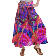 Design Background Concept Fractal Satin Palazzo Pants