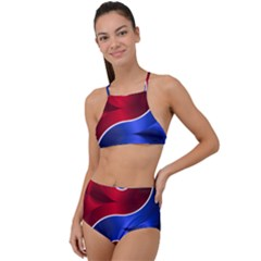 Yin Yang Eastern Asian Philosophy High Waist Tankini Set by Bejoart
