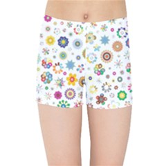 Flower Floral Pattern Kids  Sports Shorts