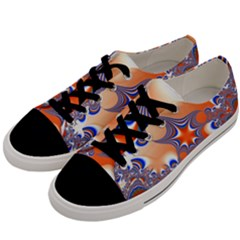 Abstract Art Artwork Fractal 2 Men s Low Top Canvas Sneakers by Pakrebo