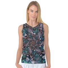 Art Artwork Fractal Digital Art Floral Women s Basketball Tank Top by Pakrebo