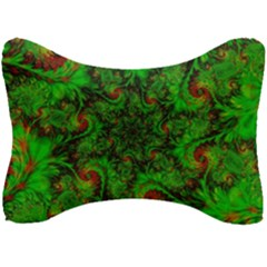 Art Artwork Fractal Digital Art Green Seat Head Rest Cushion