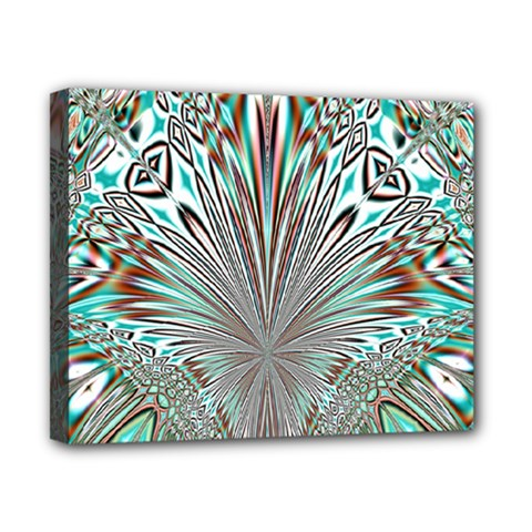 Crystal Design Crystal Pattern Glass Canvas 10  X 8  (stretched) by Pakrebo