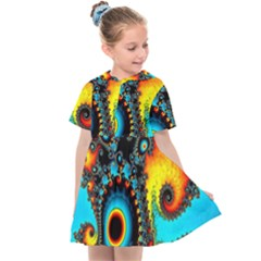 Artwork Fractal Digital Art Kids  Sailor Dress by Pakrebo
