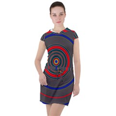 Art Design Fractal Circle Drawstring Hooded Dress by Pakrebo