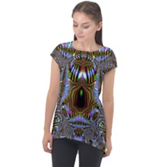 Art Artwork Fractal Digital Art Cap Sleeve High Low Top