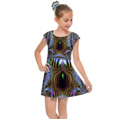 Art Artwork Fractal Digital Art Kids  Cap Sleeve Dress