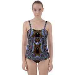 Art Artwork Fractal Digital Art Twist Front Tankini Set