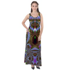 Art Artwork Fractal Digital Art Sleeveless Velour Maxi Dress