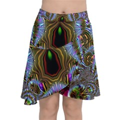 Art Artwork Fractal Digital Art Chiffon Wrap Front Skirt