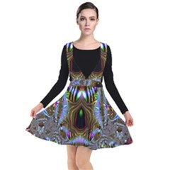 Art Artwork Fractal Digital Art Plunge Pinafore Dress
