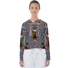 Art Artwork Fractal Digital Art Women s Slouchy Sweat