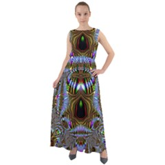 Art Artwork Fractal Digital Art Chiffon Mesh Maxi Dress