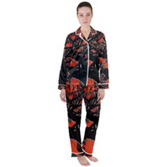 Into The Forest 6 Satin Long Sleeve Pyjamas Set