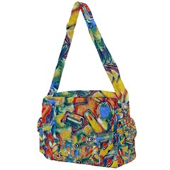 Colorful Painted Shapes                   Buckle Multifunction Bag by LalyLauraFLM