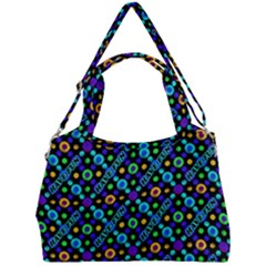 Have Fun Multicolored Text Pattern Double Compartment Shoulder Bag by dflcprintsclothing