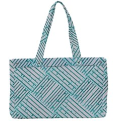 Wood Texture Diagonal Pastel Blue Canvas Work Bag by Mariart
