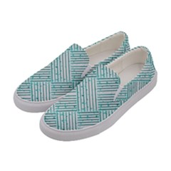 Wood Texture Diagonal Pastel Blue Women s Canvas Slip Ons by Mariart