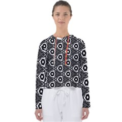 Black White Pattern Women s Slouchy Sweat