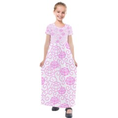 Spring Flowers Plant Kids  Short Sleeve Maxi Dress by HermanTelo