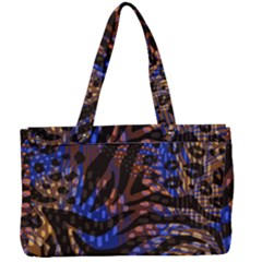 Modern Abstract Animal Print Canvas Work Bag by tarastyle