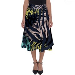 Modern Abstract Animal Print Perfect Length Midi Skirt
