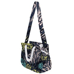 Modern Abstract Animal Print Rope Handles Shoulder Strap Bag by tarastyle