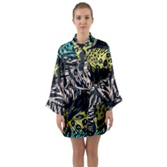 Modern Abstract Animal Print Long Sleeve Kimono Robe by tarastyle