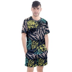 Modern Abstract Animal Print Men s Mesh Tee And Shorts Set by tarastyle