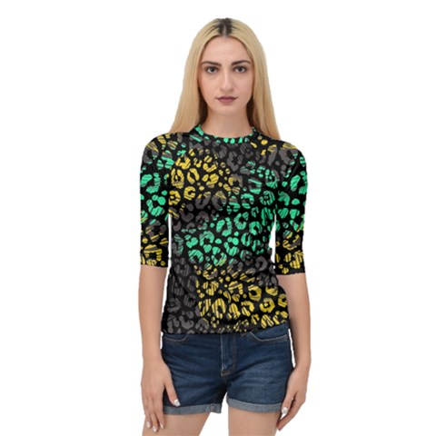 Modern Abstract Animal Print Quarter Sleeve Raglan Tee by tarastyle
