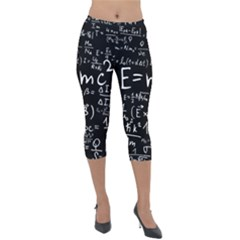 Science Albert Einstein Formula Mathematics Physics Special Relativity Lightweight Velour Capri Leggings