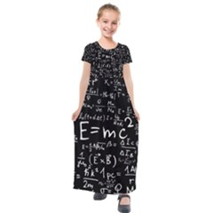 Science Albert Einstein Formula Mathematics Physics Special Relativity Kids  Short Sleeve Maxi Dress by Sudhe