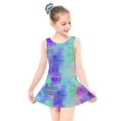 Watercolor Wash Kids  Skater Dress Swimsuit by blkstudio