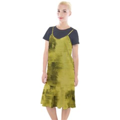 Watercolor Wash - Yellow Camis Fishtail Dress by blkstudio