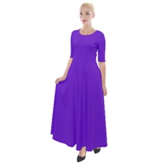 Violet Purple Half Sleeves Maxi Dress by blkstudio