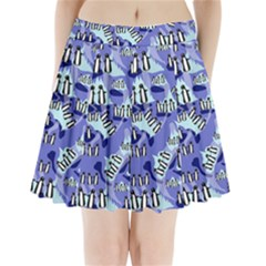 Penguins Pattern Pleated Mini Skirt by bloomingvinedesign