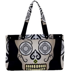 Skull Scary Art Digital Head Canvas Work Bag by Wegoenart