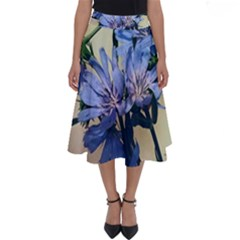 Blue Wildflowers Perfect Length Midi Skirt
