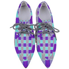 Thepurplesquare Pointed Oxford Shoes
