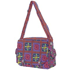 Shapes In Squares Pattern                    Buckle Multifunction Bag by LalyLauraFLM