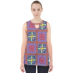 Shapes In Squares Pattern                       Cut Out Tank Top by LalyLauraFLM