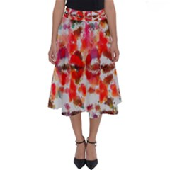 Paint Splatters On A White Background                       Perfect Length Midi Skirt