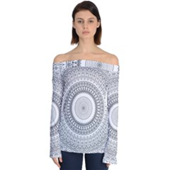 Pattern Design Pretty Cool Art Off Shoulder Long Sleeve Top