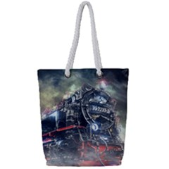 Steam Locomotive Br 99 Historically Full Print Rope Handle Tote (small) by Wegoenart